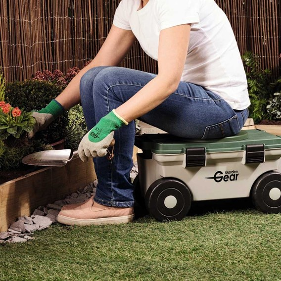 Garden Mobile Rotating Seat & Tool Store
