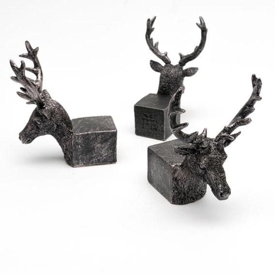 Set of Three 'Stag' Pot Feet