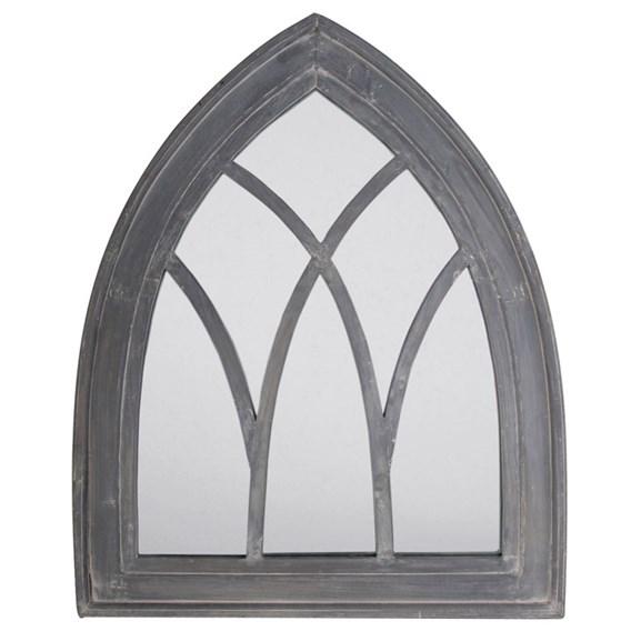 Grey Wash Gothic Mirror