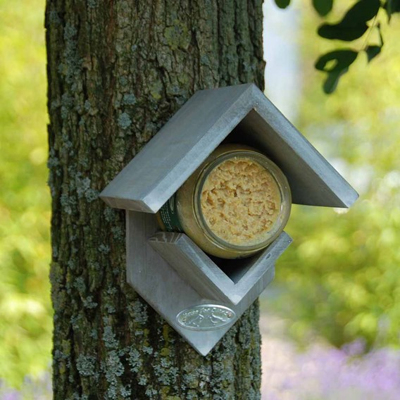Peanut Butter House Feeder