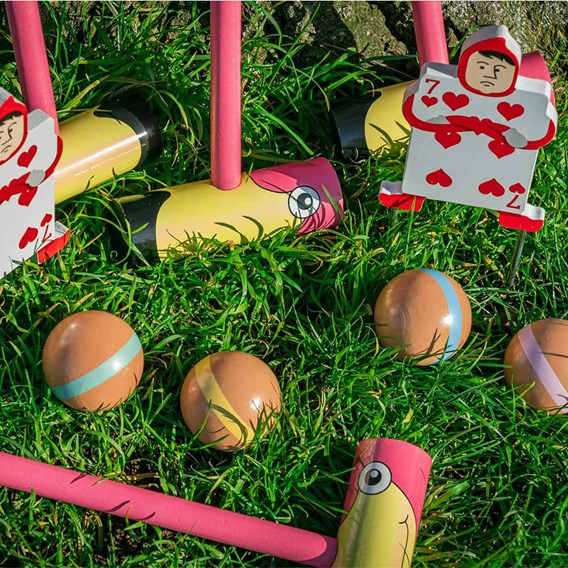 Queen of Hearts Flamingo Croquet