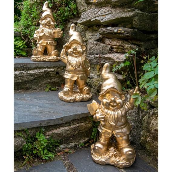 Gold Garden Gnome