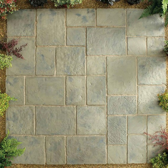 Minster Paving Random Patio Kit 5.76M2 Rustic Sage
