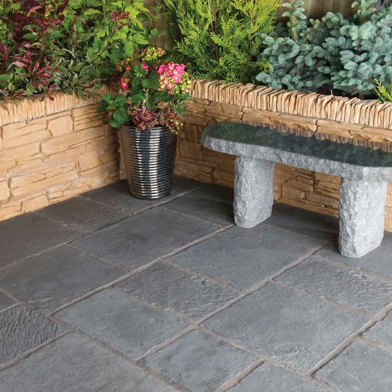 Minster Paving Random Patio Kit 5.76M2 Graphite