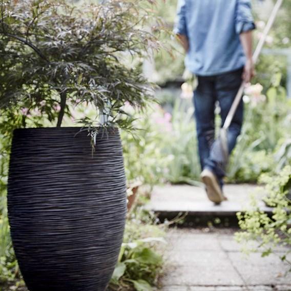 MIH Vase elegant deluxe Rib NL 40x60cm Black