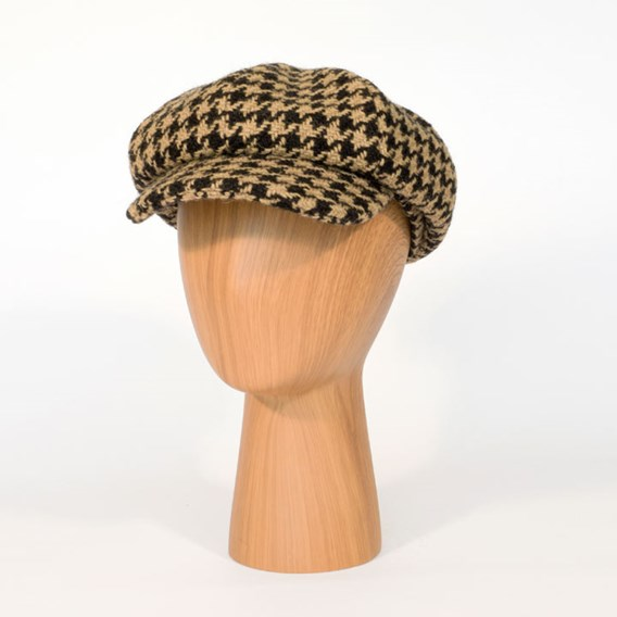 The Tatton Hat - Giant Black Houndstooth