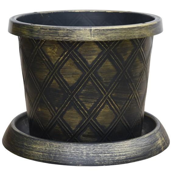 Large Patio Pot & Saucer