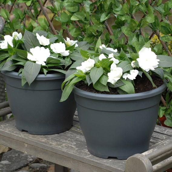 Planter Sabina Dark Grey