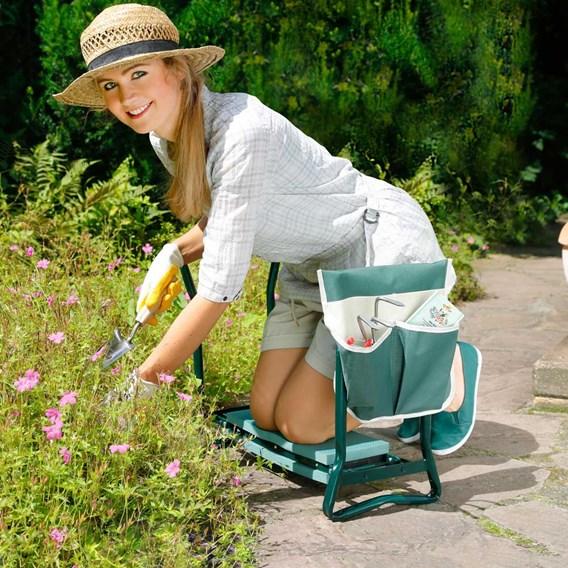Garden Kneeler with tool pocket