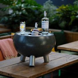 Drinks Cooler Table - Small Dark Stone