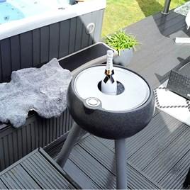 Drinks Cooler Table - Large Dark Stone