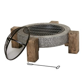Calida Round Firepit with Legs