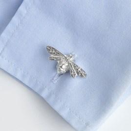Pewter Bee Cufflinks