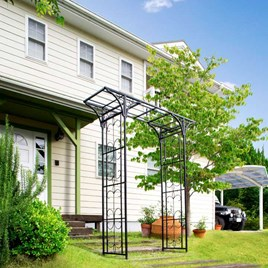 The Osaka Garden Arch is a welcome addition to any garden small or large. Great for decorating walkways and paths, the arch will help to encourage cli