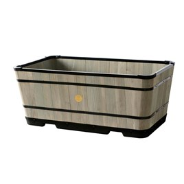 Tapered Large Trough Planter - Grey Wash