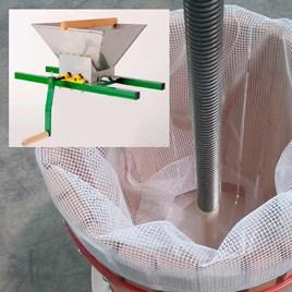 Storage Containers & Boxes Fruit Press including Pulp Bag & Fruit Mill Crank Handle - 6 Litre