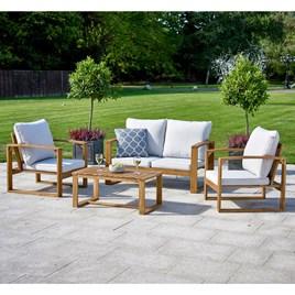 Hardwood Sofa Set Natural