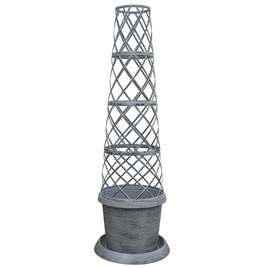Tower Pot Modern Grey
