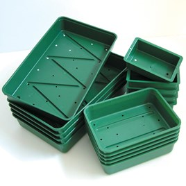Tough, top quality seed trays that will give you years of good service. Now with stronger rims for extra rigidity and improved 2 tier drainage. Add cl